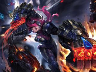 VI  League Of Legends Super Power wallpaper