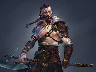 Viking Warrior Cool Illustration wallpaper
