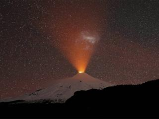 Villarrica Volcano in Chile wallpaper