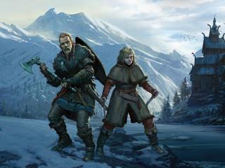 Vinland Saga Assassins Creed Valhalla wallpaper