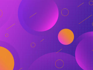 Violet Pink Circle Design wallpaper