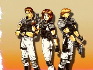 Virtua Cop 2 Characters wallpaper