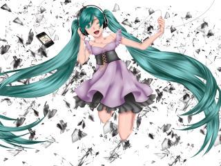 vocaloid, hatsune miku, music wallpaper