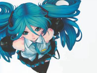 Vocaloid Miku Hatsune Girl wallpaper