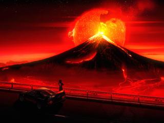 Volcano 4K wallpaper