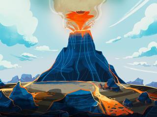 Volcano Art wallpaper