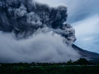volcano, explosion, eruption wallpaper