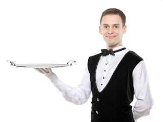 waiter, tray,  white background wallpaper