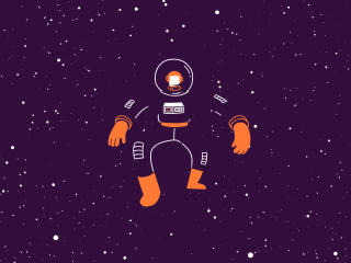 Waling In Space wallpaper