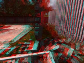 wall, 3d, anaglyph wallpaper