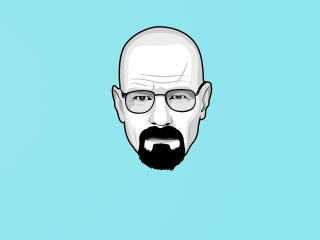 Walter White Minimalist 4K wallpaper
