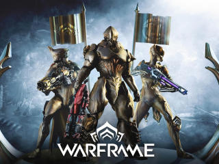 Warframe Gold Armour wallpaper