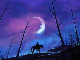 Warrior Horse Riding Art wallpaper