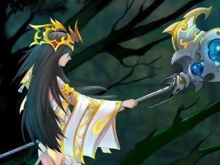 warrior, league of legends, art wallpaper