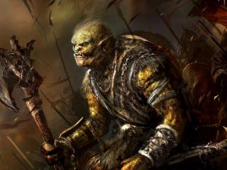 warriors, axe, battlefield wallpaper