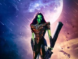 What If Gamora as Thanos wallpaper