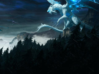 White Dragon Art wallpaper
