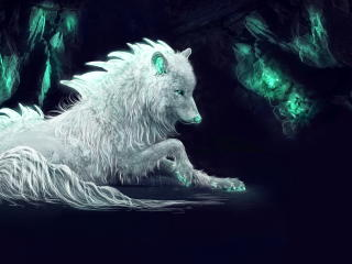 White Wolf Fantasy Life wallpaper