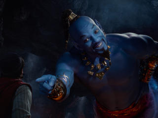 Will Smith as Genie In Aladdin Movie 2019 wallpaper