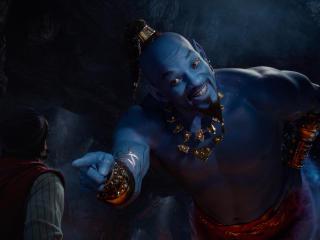Will Smith as Genie In Aladdin Movie 2019 wallpaper