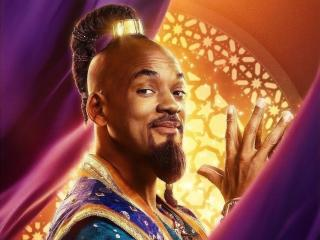 Will Smith As Genie in Aladdin Movie wallpaper