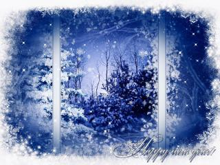 window, snow, landscape wallpaper