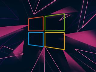 Windows 10 Neon Logo wallpaper