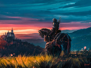 Witcher 3 Artstation Fan Art wallpaper