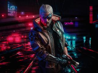 Witcher Cyberpunk 2077 wallpaper