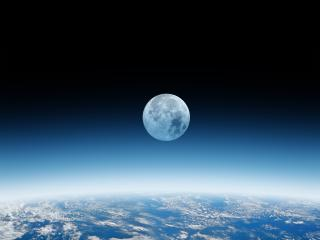 Wobble Moon 4K wallpaper