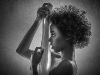 Women Side Face Portrait Monochrome wallpaper