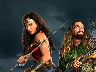Wonder Woman Aquaman Justice League 2017 wallpaper
