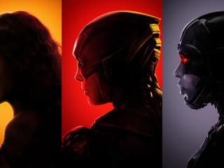 Wonder Woman Flash Cyborg Justice League wallpaper