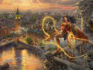 Wonder Woman In London wallpaper