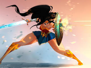 Wonder Woman Poly Art wallpaper