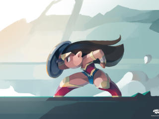 Wonder Woman Poly Superhero wallpaper