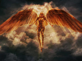 Wonder Woman Suit Golden Wings 5k wallpaper