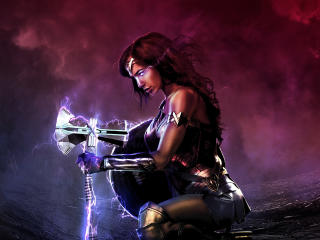 Wonder Woman with Strombreaker wallpaper