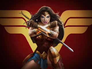 Wonder Woman x Injustice 2 wallpaper