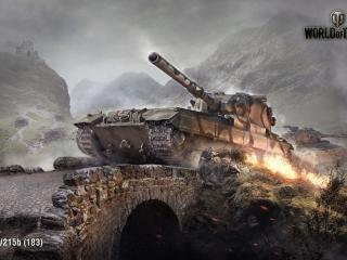world of tanks, wargaming net, fv215b wallpaper