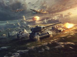 World Of Tanks, World Of Warplanes World Of Warships wallpaper