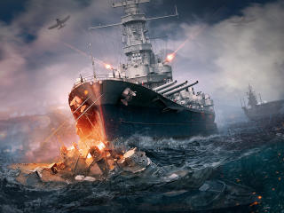World Of Warship Ship Explosion wallpaper