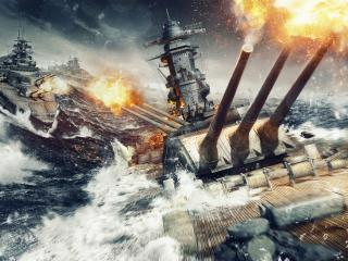 World Of Warships Explosion wallpaper