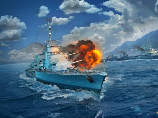 World of Warships Mogador  Destroyer wallpaper