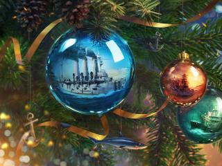 World Of Warships New Year Balls wallpaper