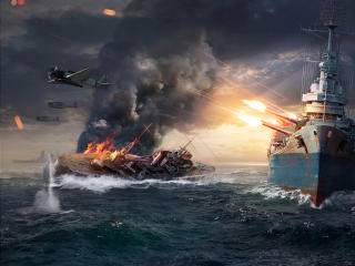 World Of Warships Sinking Ship wallpaper