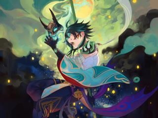 Xiao NNAA Mask Genshin Impact wallpaper