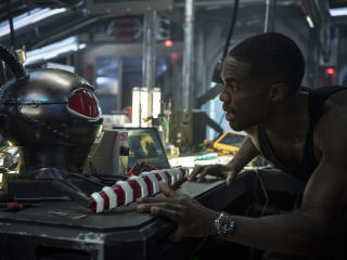 Yahya Abdul-Mateen II Black Manta in Aquaman Movie wallpaper