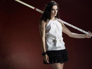 yelena isinbayeva, pole vaulter, russian wallpaper