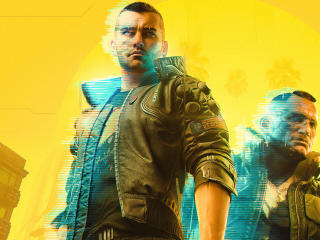 Yellow Background Cyberpunk 2077 wallpaper